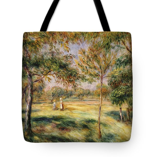 The Glade Tote Bag by Pierre Auguste Renoir
