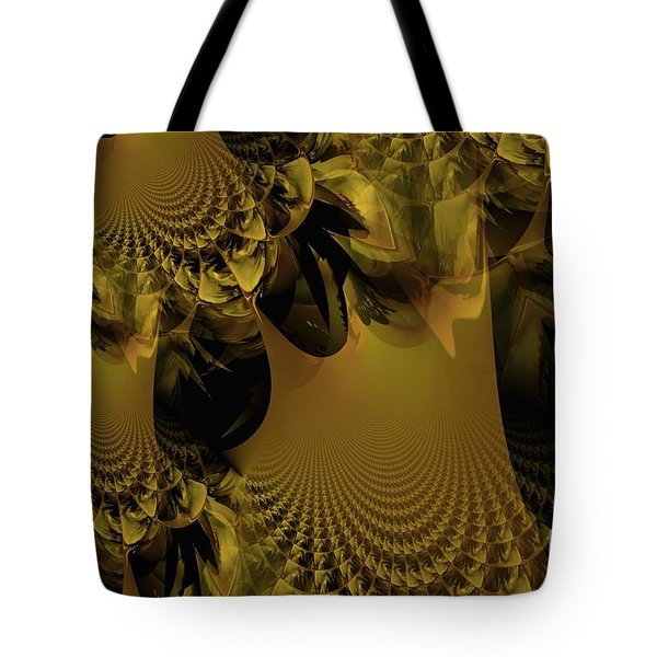 The Golden Mascarade Tote Bag by Maria Urso