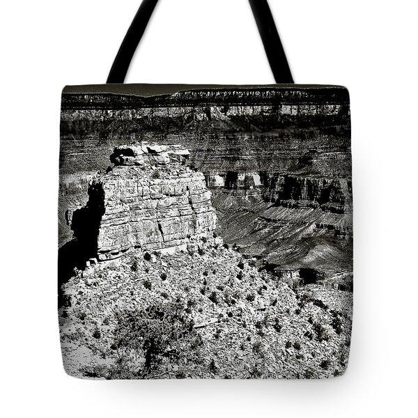The Grand Canyon Bw Tote Bag by  Bob and Nadine Johnston