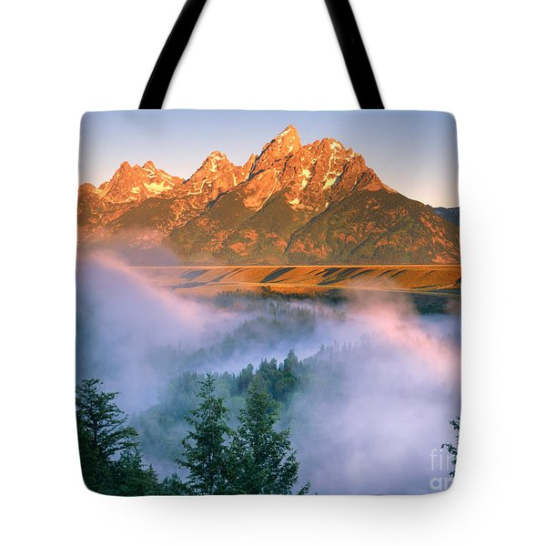 The Grand Tetons Tote Bag by Dennis Flaherty and Photo Researchers