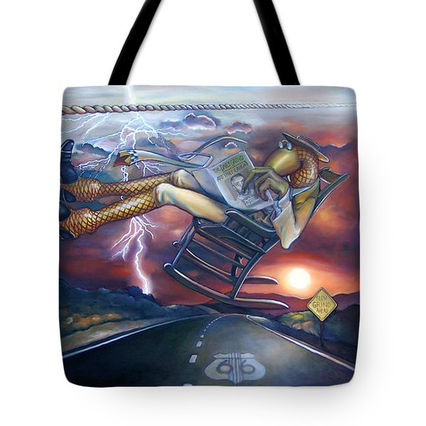The Grinder Tote Bag by Patrick Anthony Pierson