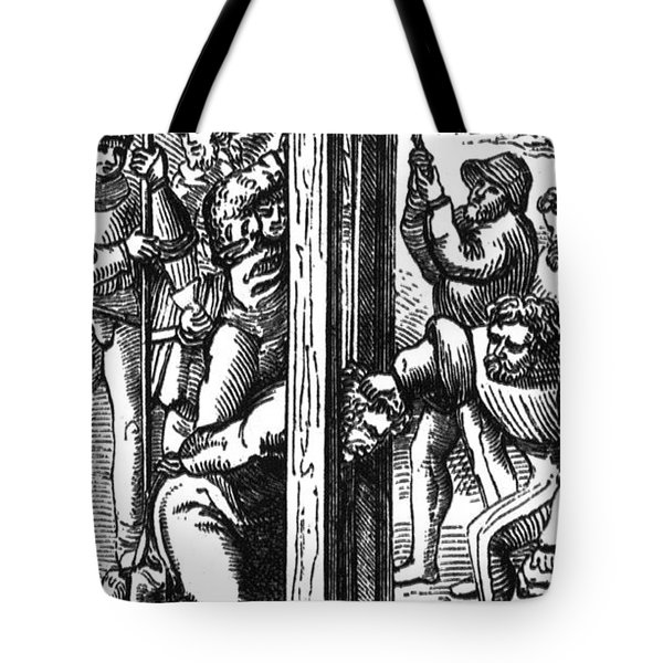 The Guillotine, 18th Century Tote Bag by Science Source
