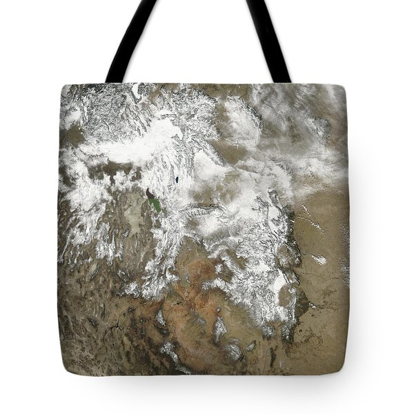 The High Peaks Of The Rocky Mountains Tote Bag by Stocktrek Images