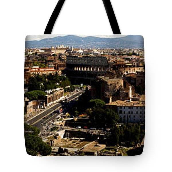 The Historic Centre of Rome Tote Bag by Fabrizio Troiani