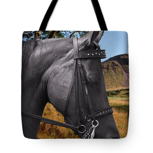 The horse - God's gift to man Tote Bag by Christine Till