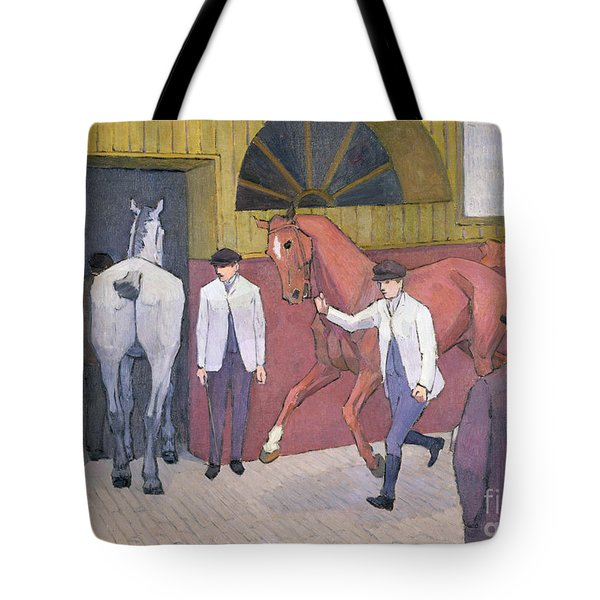 The Horse Mart  Tote Bag by Robert Polhill Bevan