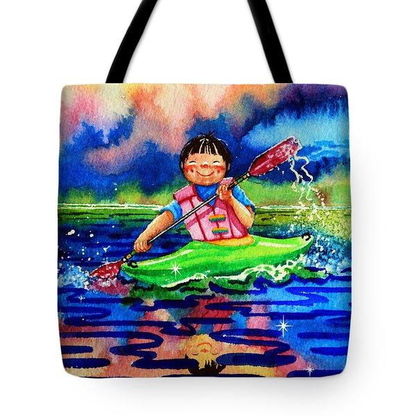 The Kayak Racer 11 Tote Bag by Hanne Lore Koehler