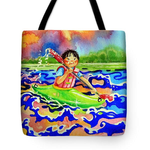 The Kayak Racer 12 Tote Bag by Hanne Lore Koehler