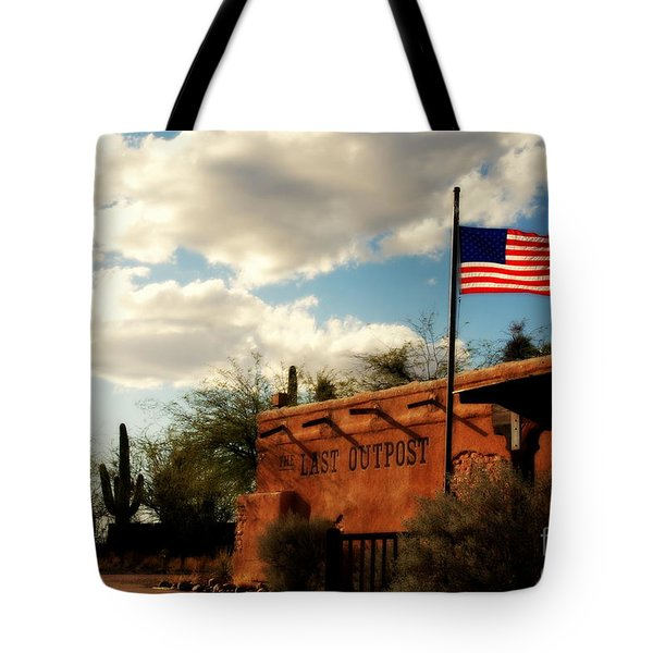 The Last Outpost Old Tuscon Arizona Tote Bag by Susanne Van Hulst