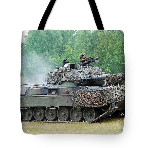 The Leopard 1a5 Main Battle Tank Tote Bag by Luc De Jaeger