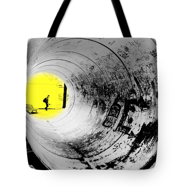 The Light At The End Of The Tunnel Tote Bag by Valentino Visentini