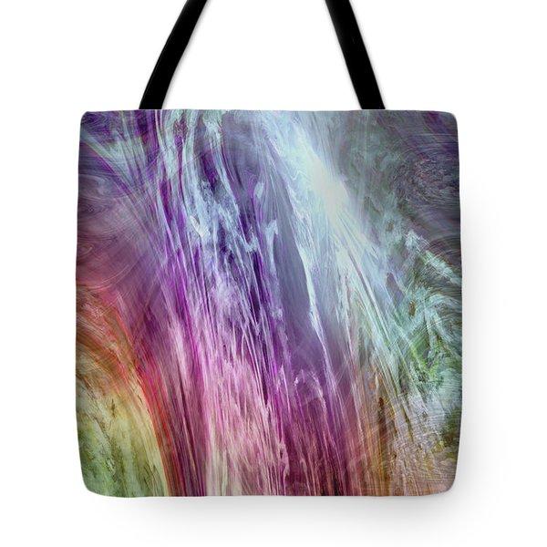 The Light Of The Spirit Tote Bag by Linda Sannuti