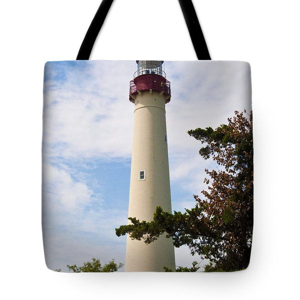 The Lighthouse at Cape May New Jersey Tote Bag by Bill Cannon