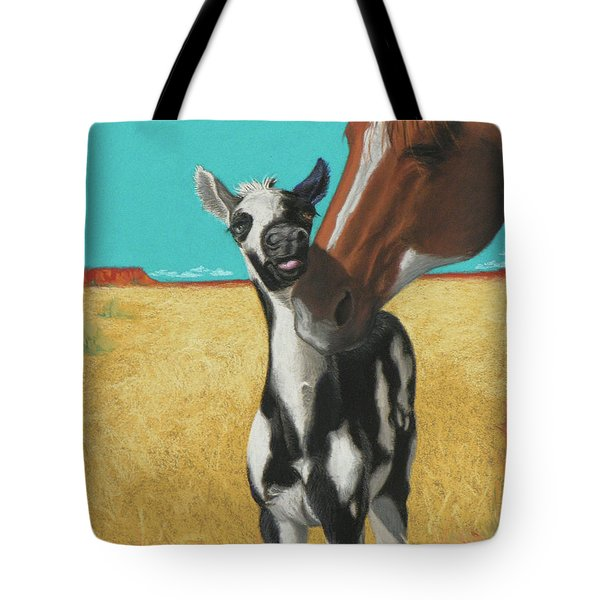 The Little Mustang Tote Bag by Tracy L Teeter