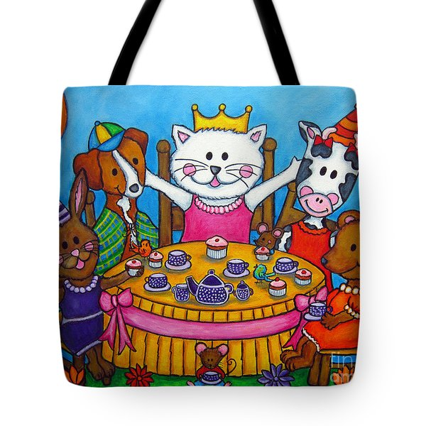 The Little Tea Party Tote Bag by Lisa  Lorenz