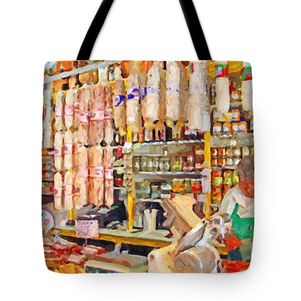 The Local Deli Tote Bag by Wingsdomain Art and Photography