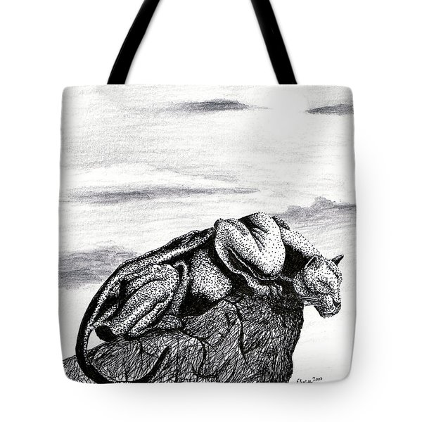 The Look Out Tote Bag by Elizabeth Harshman