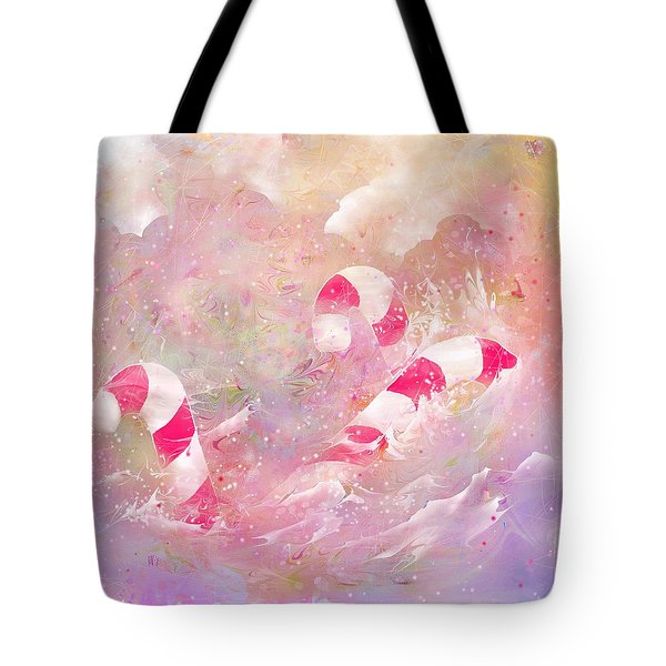 The Lost Candy Canes Tote Bag by Rachel Christine Nowicki