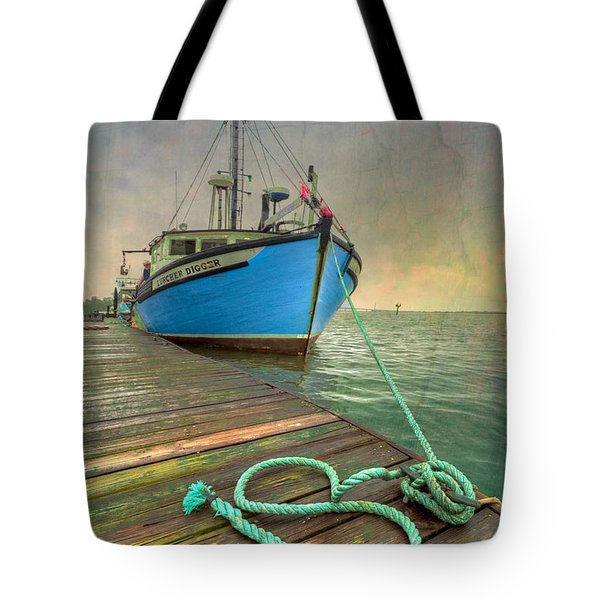 The Lurcher Digger Tote Bag by Debra and Dave Vanderlaan