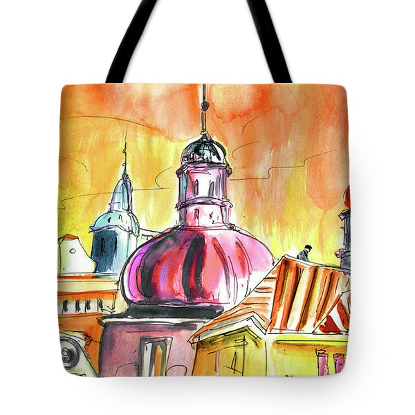 The Magical Roofs Of Prague 01 Bis Tote Bag by Miki De Goodaboom