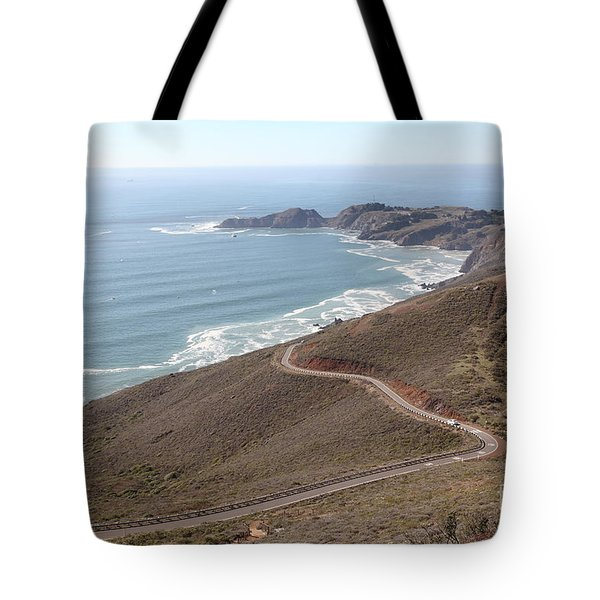 The Marin Headlands - California Shoreline - 5D19593 Tote Bag by Wingsdomain Art and Photography