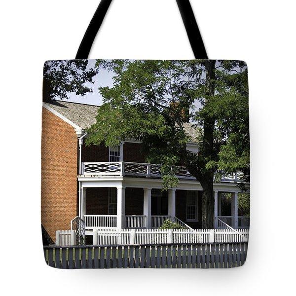 The Mclean House In Appomattox Virgina Tote Bag by Teresa Mucha