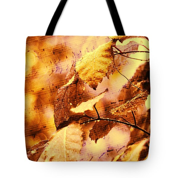 The Melody Of The Golden Rain Tote Bag by Jenny Rainbow