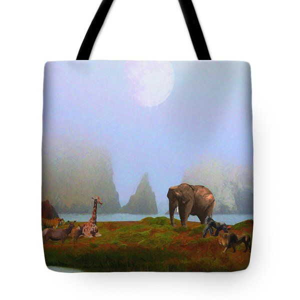 The Menagerie . Painterly Tote Bag by Wingsdomain Art and Photography