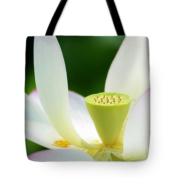 The Middle Of A Lotus Tote Bag by Sabrina L Ryan