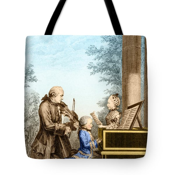The Mozart Family On Tour 1763 Tote Bag by Photo Researchers