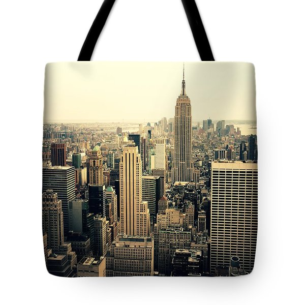 The New York City Skyline Tote Bag by Vivienne Gucwa