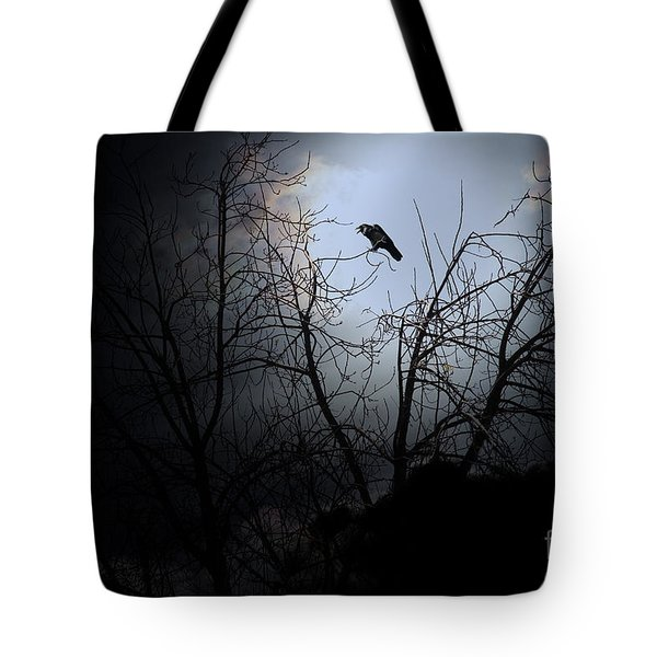 The Night The Raven Appeared In My Dream . 7D12631 Tote Bag by Wingsdomain Art and Photography
