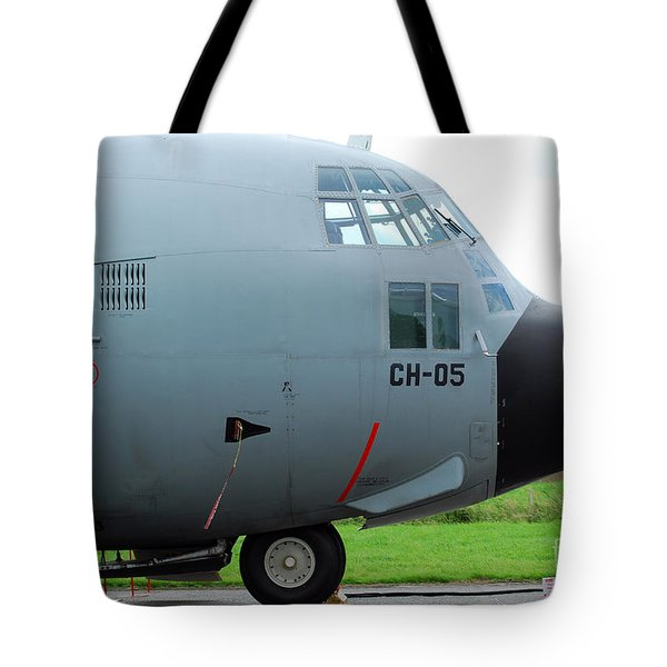 The Nose Of A Hercules C-130 Airplane Tote Bag by Luc De Jaeger
