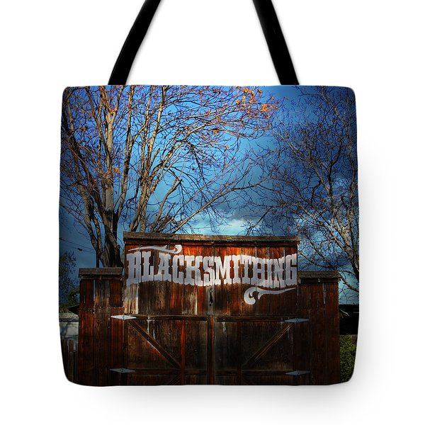 The Old Blacksmith . 7d12956 Tote Bag by Wingsdomain Art and Photography