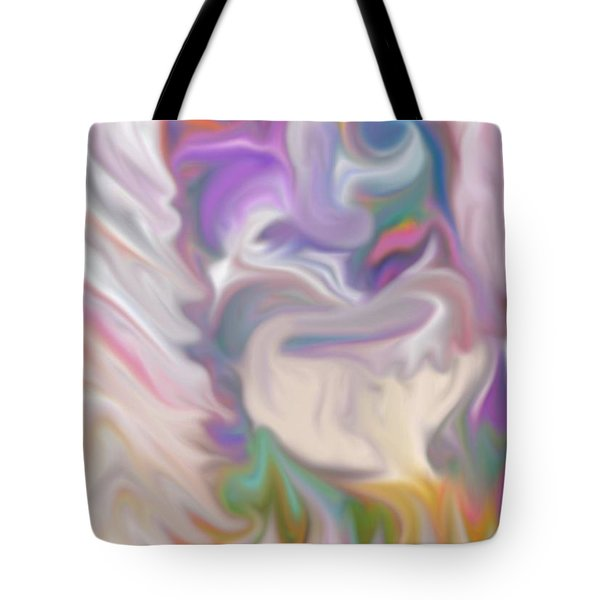 The Old Man Abstract Tote Bag by Gina Lee Manley