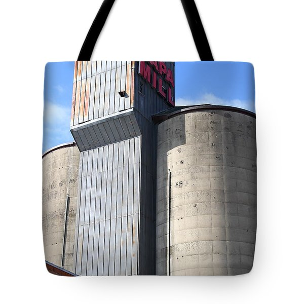 The Old Napa Mill in Napa California Wine Country Tote Bag by Wingsdomain Art and Photography