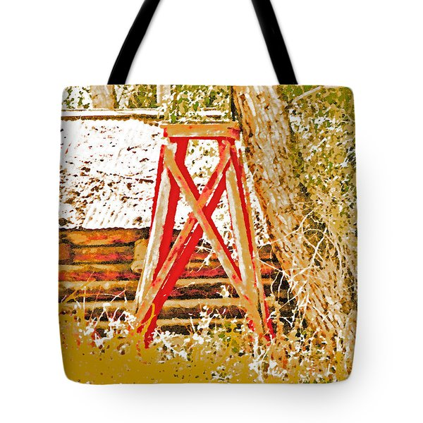 The Old Ranch Tower Tote Bag by Lenore Senior and Dawn Senior-Trask