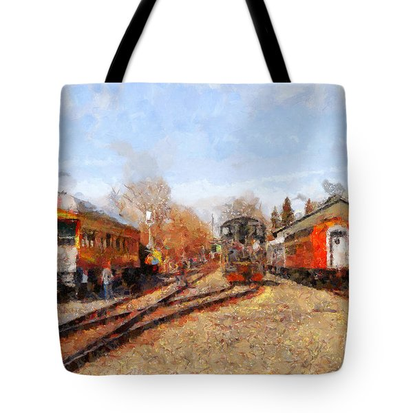 The Old Sacramento Central Train Depot . 7d11513 Tote Bag by Wingsdomain Art and Photography