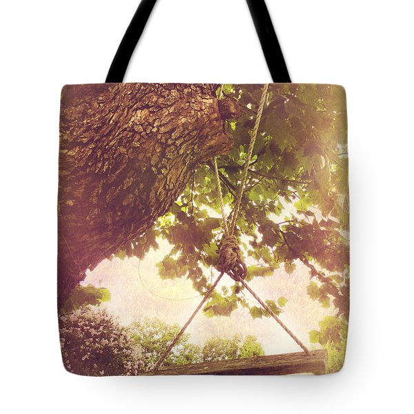 The Old Swing Tote Bag by Susan Bordelon
