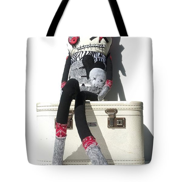 The Original Gangsta Zombie Blunt Force Angelo Tote Bag by Oddball Art Co by Lizzy Love