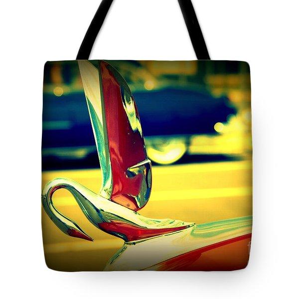 The Packard Swan Tote Bag by Susanne Van Hulst