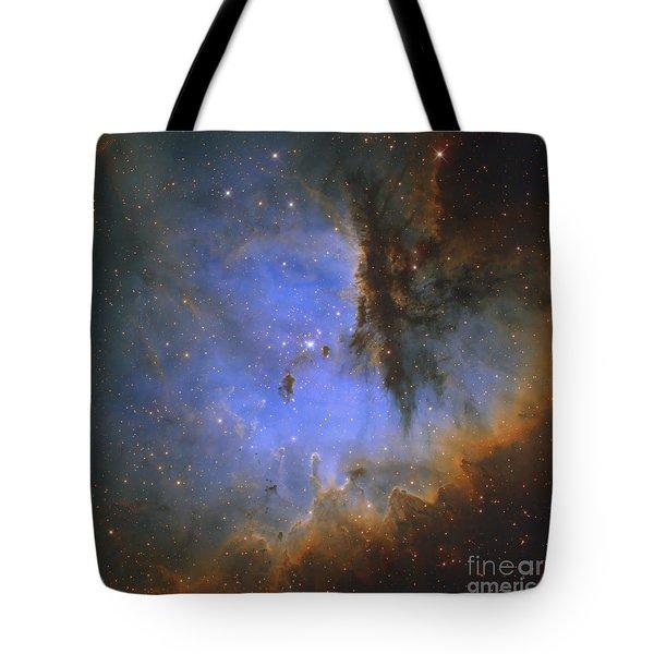 The Pacman Nebula Tote Bag by Ken Crawford