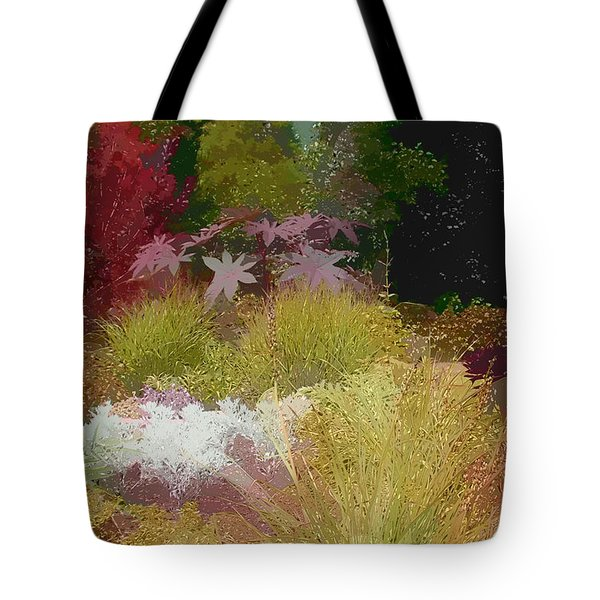 the painted garden Tote Bag by Tom Prendergast