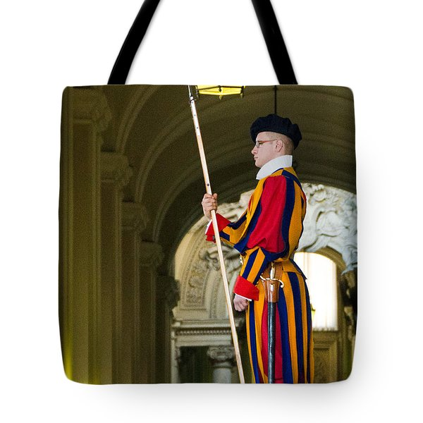 The Papal Swiss Guard Tote Bag by Jon Berghoff