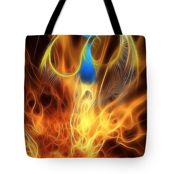 The Phoenix rises from the ashes Tote Bag by John Edwards