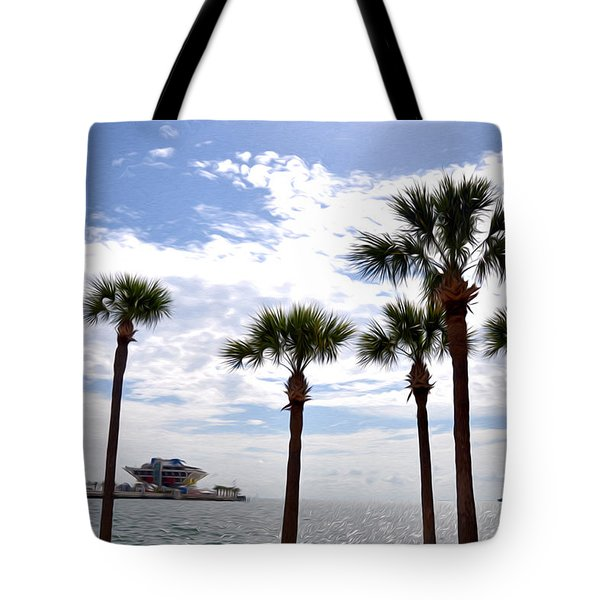 The Pier - St. Petersburg Tote Bag by Bill Cannon