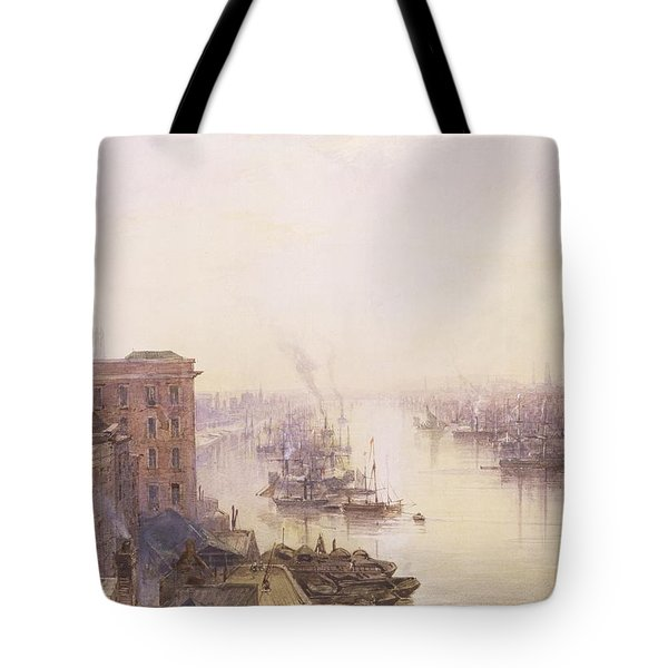 The Pool From The Adelaide Hotel London Bridge Tote Bag by William Wyld