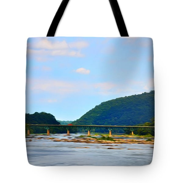 The Potomic River West Virginia Tote Bag by Bill Cannon