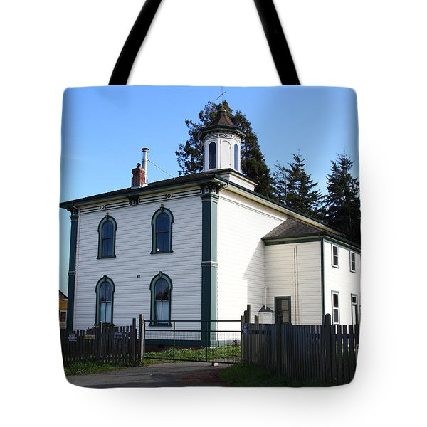 The Potter School House . Bodega Bay . Town of Bodega . California . 7D12472 Tote Bag by Wingsdomain Art and Photography