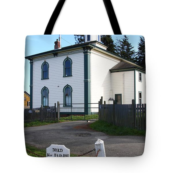 The Potter School House . Bodega Bay . Town of Bodega . California . 7D12473 Tote Bag by Wingsdomain Art and Photography